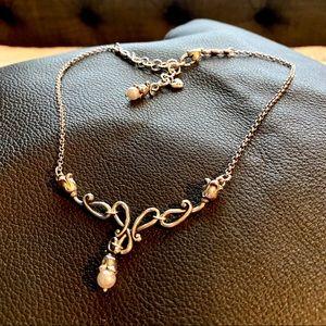 Brighton | pearl and tulip drop necklace